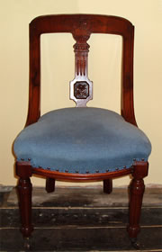 Edwardian Dining Chairs with stuffover seats