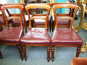 A very good quality set of 8 matching Victorian golden mahogany chairs