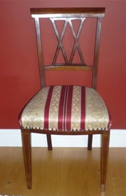 Edwardian mahogany and satinwood dining chair 2/4 wanted