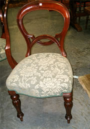 An excellent quality set of six Victorian mahogany balloon back chairs