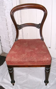 A set of 4 excellent quality early victorian mahogany balloon back chairs