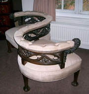A fantastic quality late Victorian conversation seat