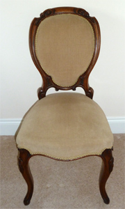 Lovely oak chair stuffed seat and back